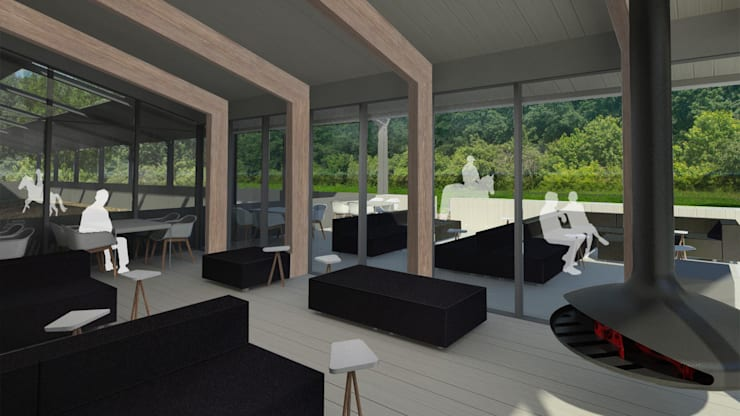 Multifunctioneel clubhuis / Manege:  Evenementenlocaties door MOTUS architects
