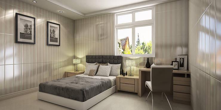 室內設計:  臥室 by 綠藝營造