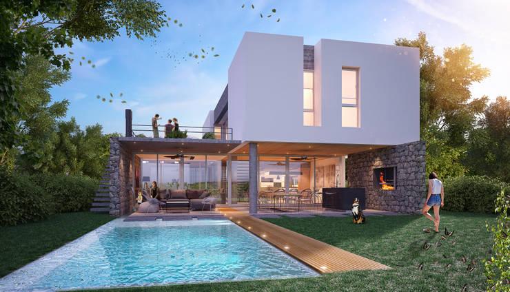 Casa Sanchez:  de estilo  por Etéreo Arquitectos,Minimalista