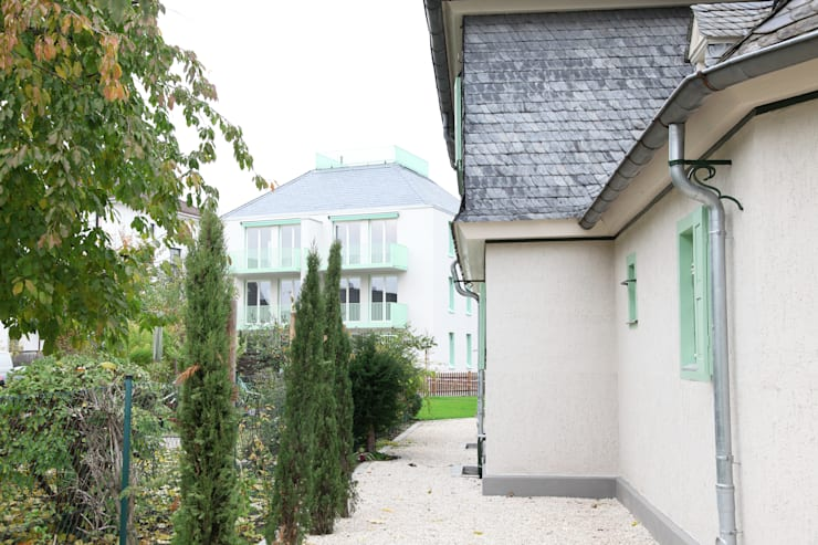 Himmelsabchsiedlung mit Blick auf den Neubau :  Häuser von Neugebauer Architekten BDA