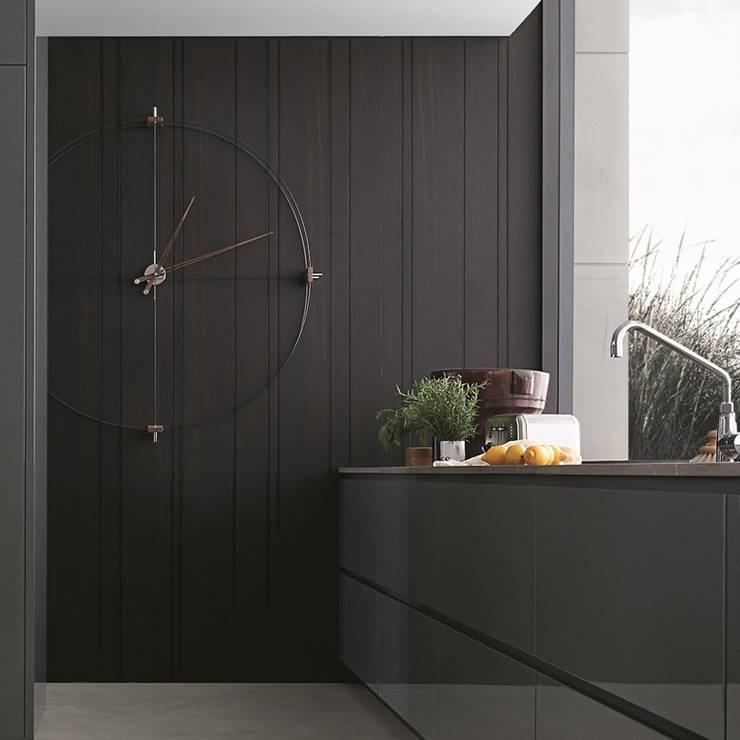 Nomon Delmori - Walnut & Black:  Kitchen by Just For Clocks