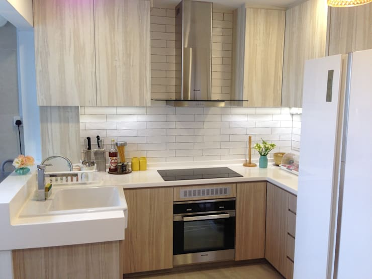 Project Asgard @ Pasir Ris:  Built-in kitchens by ab1 Abode Pte Ltd,