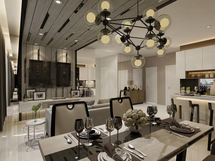 Vieloft apartment surabaya:  Venue by Kottagaris interior design consultant