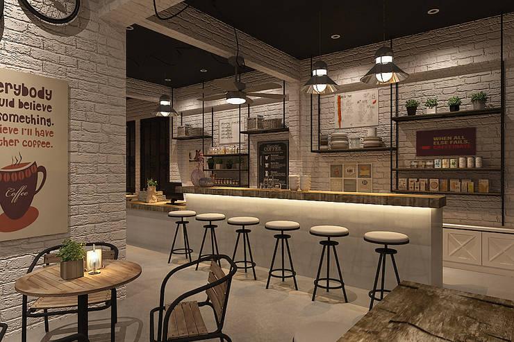 Cafe bistro:  Restoran by Kottagaris interior design consultant