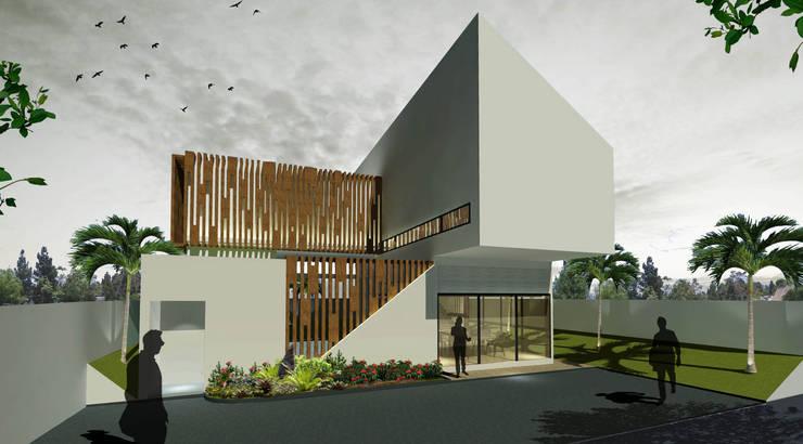 Concrete House:   by Fourhoms Design