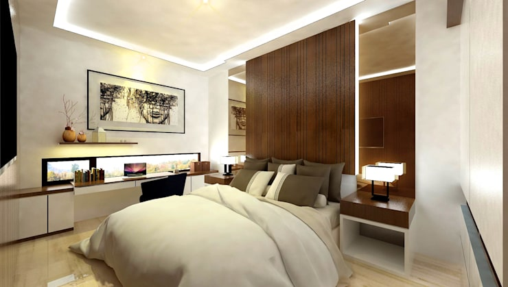 Master Bedroom:   by Fourhoms Design