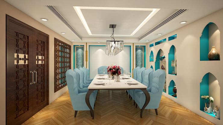 Restaurants:  Dining room by Vivitsu Design