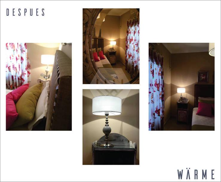 "<q class=""-first"">Recauchutando</q>: Dormitorios de estilo  por ESTUDIO WÄRME"