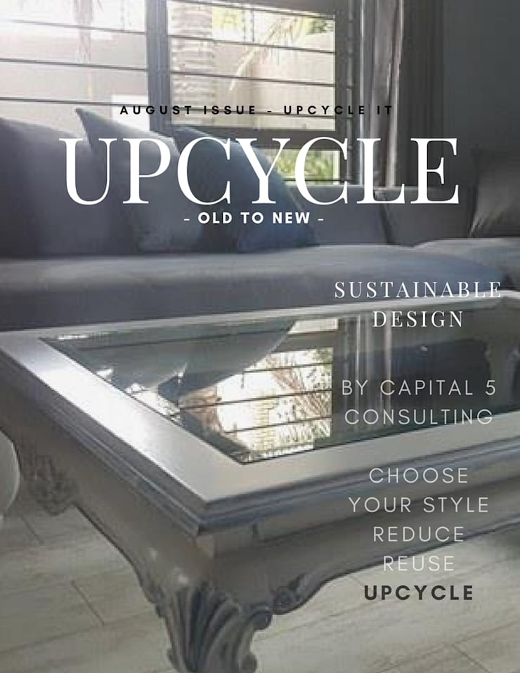 Upcycle:  Living room by Capital 5 Consulting