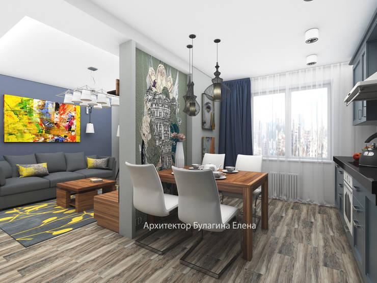 Гостиная: Гостиная в . Автор – Архитектурное Бюро 'Капитель', Эклектичный