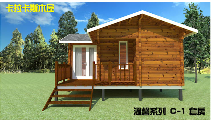 Wooden houses by 金城堡股份有限公司, Country Solid Wood Multicolored