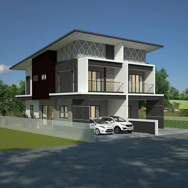 Modern Townhouse:   by T.A.S.Design Co.,Ltd.