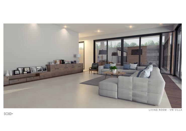 Ruang Keluarga :   by Solid+ Design Studio