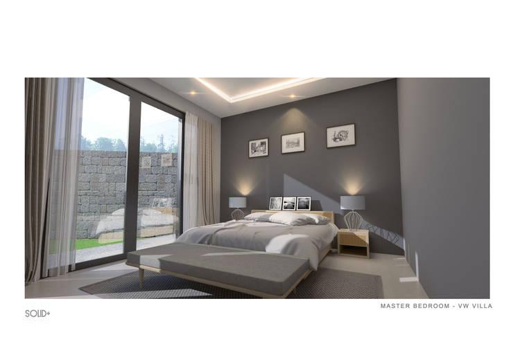 Master Bedroom:   by Solid+ Design Studio