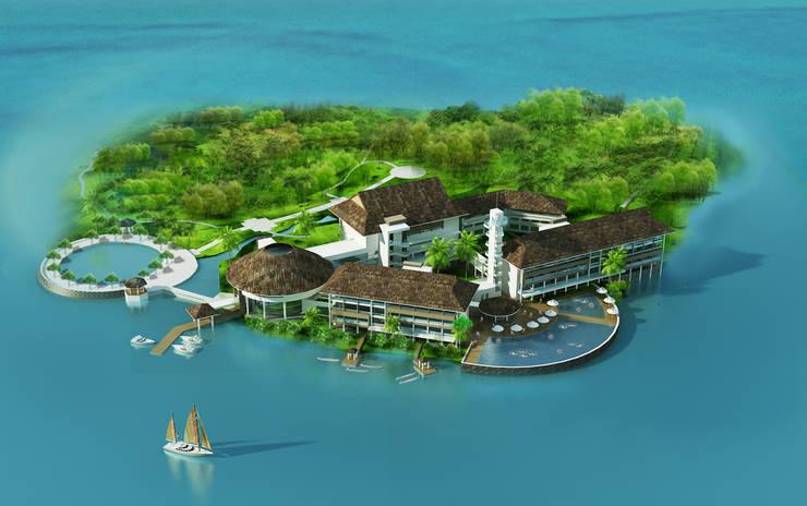 Khu nghỉ dưỡng Đảo Ngọc:  Mái by Công ty cổ phần Kiến trúc và xây dựng AST