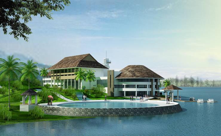 Khu nghỉ dưỡng Đảo Ngọc:  Nhà by Công ty cổ phần Kiến trúc và xây dựng AST