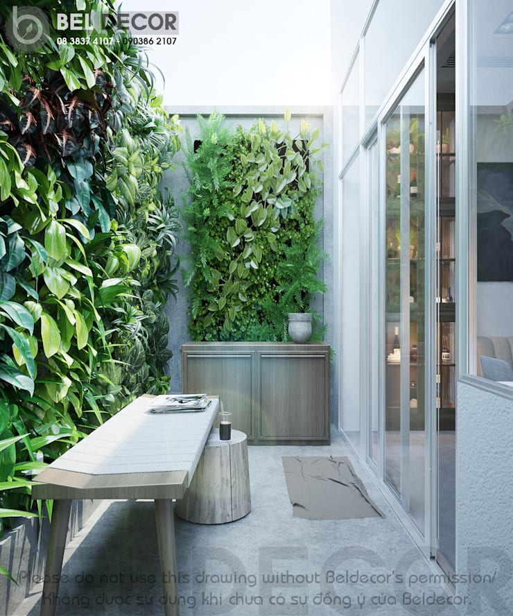 Garden Area:   by Bel Decor