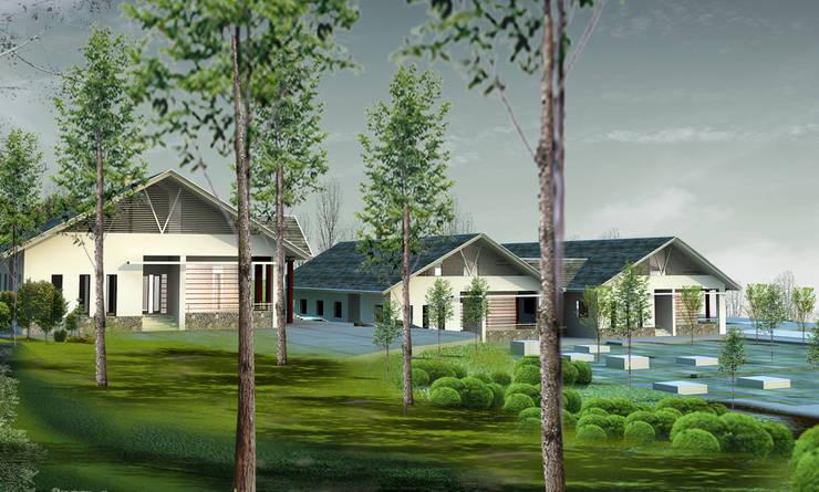Viện tĩnh tâm – Thanh cao – Vĩnh phúc:  Nhà cho nhiều gia đình by Công ty cổ phần Kiến trúc và xây dựng AST
