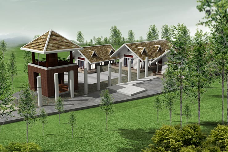 Viện tĩnh tâm – Thanh cao – Vĩnh phúc:  Chòi by Công ty cổ phần Kiến trúc và xây dựng AST