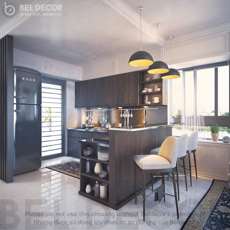 Kitchen & Mini Bar:   by Bel Decor