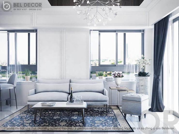 Living Room:   by Bel Decor