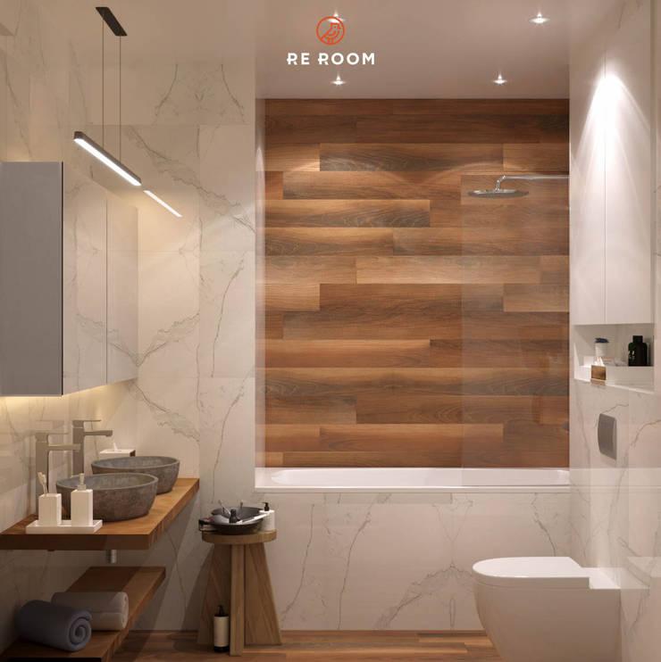 浴室 by Reroom, 隨意取材風