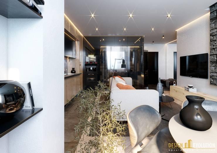 Salas / recibidores de estilo  por Design Evolution, Moderno