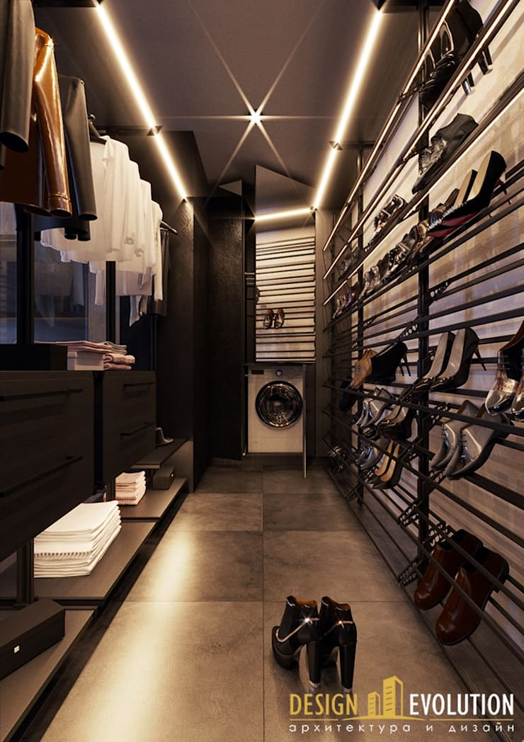 Closets de estilo  por Design Evolution, Moderno