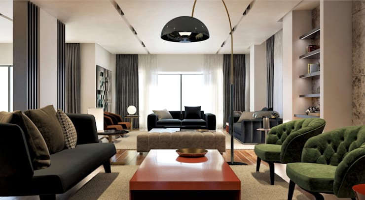 Madinaty House | Interiors: modern Living room by BAX