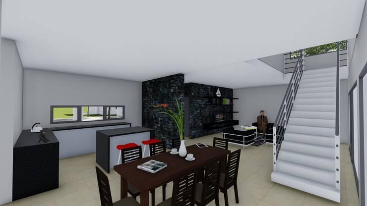 Casa en Barrio Pizzurno – Rafaela – Santa Fe: Comedores de estilo  por Arquitecto Leandro Puy,