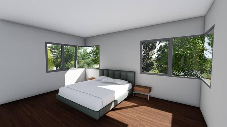 Casa en Barrio Pizzurno – Rafaela – Santa Fe: Dormitorios de estilo  por Arquitecto Leandro Puy,