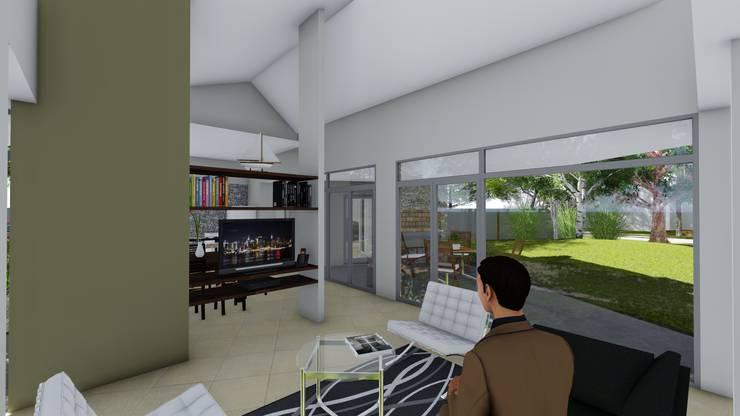 Casa en Barrio Brigadier López – Rafaela – Santa Fe – Argentina: Livings de estilo  por Arquitecto Leandro Puy,