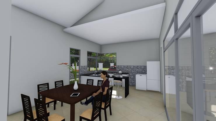 Casa en Barrio Brigadier López – Rafaela – Santa Fe – Argentina: Comedores de estilo  por Arquitecto Leandro Puy,