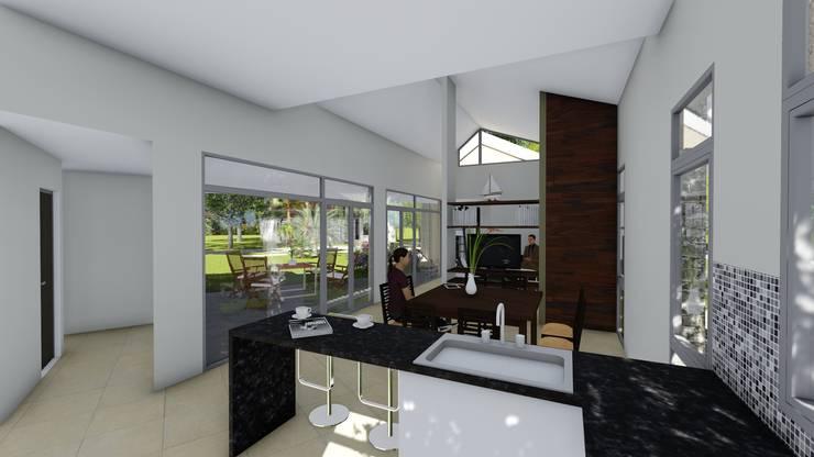 Casa en Barrio Brigadier López – Rafaela – Santa Fe – Argentina: Cocinas de estilo  por Arquitecto Leandro Puy,