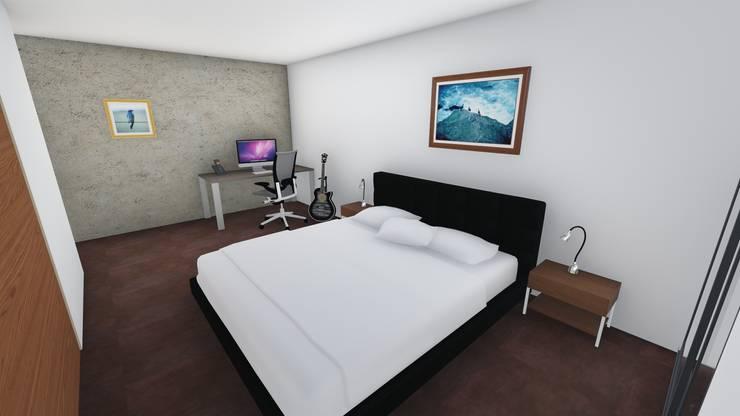 Casa en Barrio San José – Rafaela – Santa Fe – Argentina: Dormitorios de estilo  por Arquitecto Leandro Puy,