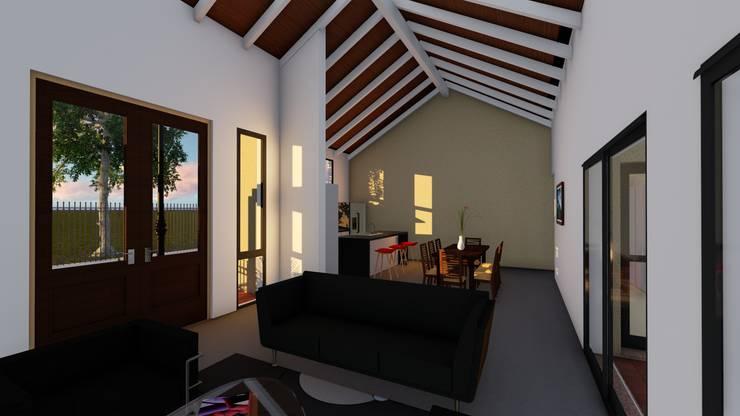 Casa en Susana – Susana – Santa Fe – Argentina: Livings de estilo  por Arquitecto Leandro Puy