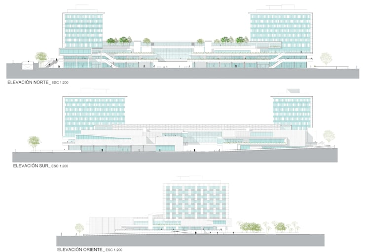 PROYECTO CENTRO COMERCIAL <q>MALL CAEP</q>: Centros Comerciales de estilo  por [ER+] Arquitectura y Construcción