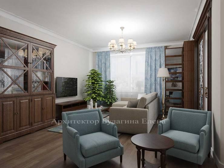 Гостиная: Гостиная в . Автор – Архитектурное Бюро 'Капитель', Классический