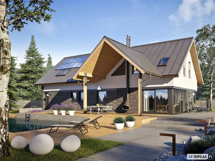 Nikolas II G2 ENERGO PLUS - nowoczesny dom, który ma wszystko!: styl , w kategorii Domy zaprojektowany przez Pracownia Projektowa ARCHIPELAG
