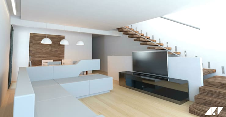 modern Living room by ARQUITECTOSRT