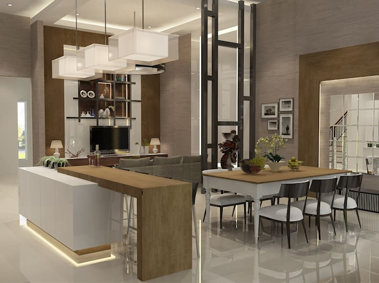 Living Room:  Ruang Makan by AIRE INTERIOR