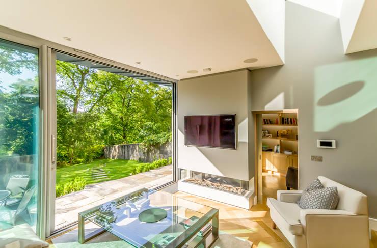 Projekty,  Salon zaprojektowane przez Capital A Architecture