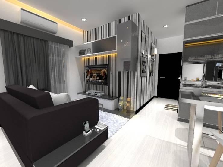 Living Room:  Ruang Keluarga by Asera.Atelier