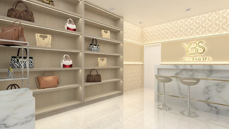 Your Bag Spa:  Office spaces & stores  by Asera.Atelier