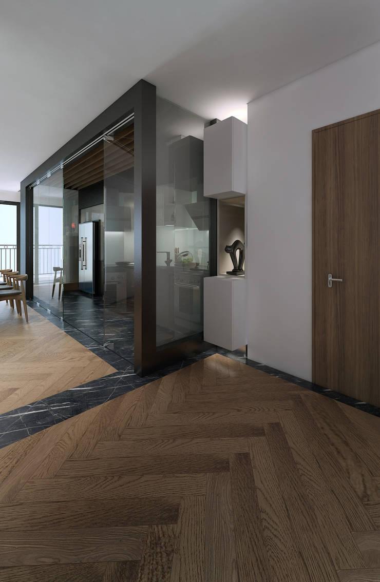 Căn hộ chung cư cao cấp TimesCity – T11:  Hành lang by deline architecture consultancy & construction
