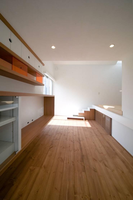 スキップフロアの家/白金台(愛犬家住宅): 前田敦計画工房が手掛けた廊下 & 玄関です。