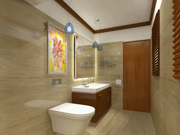 Residential Interiors:  Bathroom by Radian Design & Contracts,