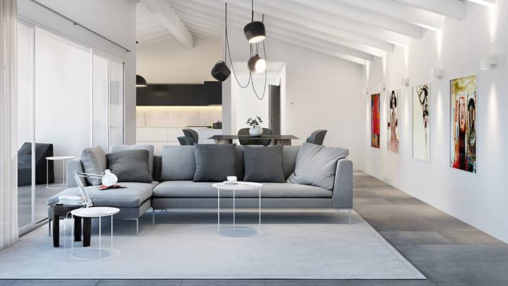 Ruang Keluarga oleh Pitzus Group Costruzioni S.r.l., Modern