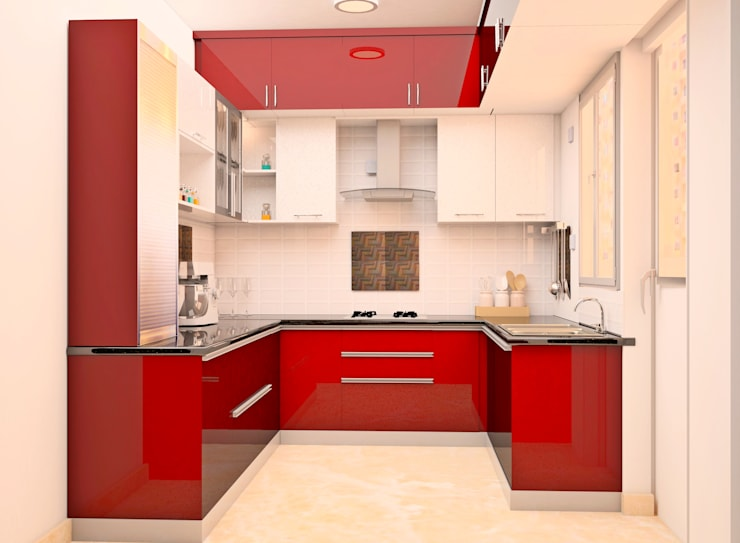 SNN Raj Serenity, 3 BHK - Mr. Ramprasath:  Built-in kitchens by DECOR DREAMS