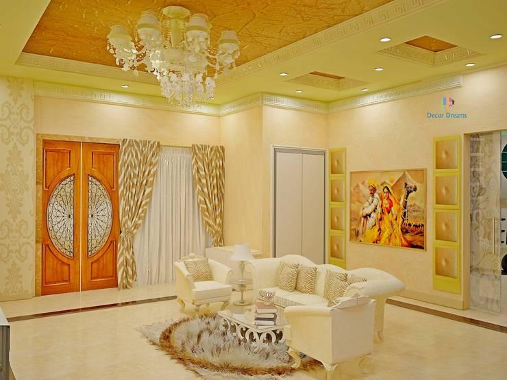Independent Bungalow, JP Nagar - Mr.Raghu:  Living room by DECOR DREAMS